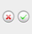 white round web buttons with colored signs delete vector image