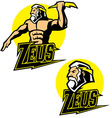 zeus god mascot vector image vector image