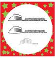 parthenon on the acropolis in athens greece vector image