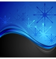 Abstract dark blue wavy Christmas background vector image vector image