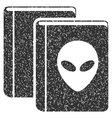 Alien Library Grainy Texture Icon vector image