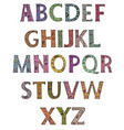 alphabet capital letters decorated with colored vector image