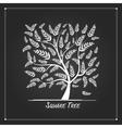 Art tree square for your design vector image vector image