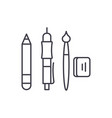 artist tools line icon concept artist tools vector image vector image
