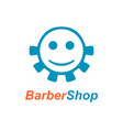 barber shop emblem design vector image