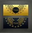 black and golden mandala decoration banner design vector image