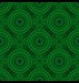 bohemian green geometrical stone mandala pattern vector image vector image