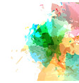 bright modern paint colorful splatter vector image vector image