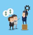 business teamwork working cartoon vector image vector image