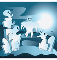 Cartoon Cemetery with Ghosts2 vector image vector image