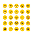Cartoon faces with emotions Emoticon emoji icons vector image vector image