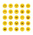 Cartoon faces with emotions Emoticon emoji icons vector image vector image