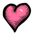 cartoon image of heart icon love symbol vector image vector image