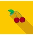 Cherry icon flat style vector image