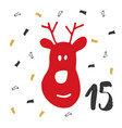 christmas advent calendar hand drawn elements and vector image