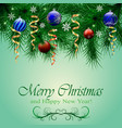 christmas and happy new year card of vector image vector image