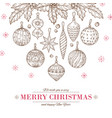christmas balls background xmas tree decorations vector image