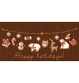 Christmas cookies Garland set design vector image