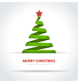 christmas tree from paper ribbon background vector image