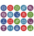 Collection round dotted icons sport