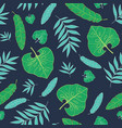 dark tropical summer hawaiian seamless vector image vector image