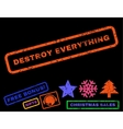 Destroy Everything Rubber Stamp vector image vector image