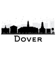 Dover City skyline black and white silhouette vector image vector image