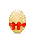 Easter paschal shine egg with red bow vector image vector image
