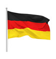 flag federal republic germany isolated vector image