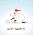 Funny sketching sheep - symbol of the New Year vector image vector image
