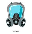 gas mask with protective glass shield vector image vector image