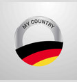germany my country flag badge vector image
