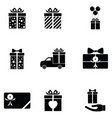 gift icon set vector image vector image