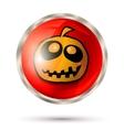 Halloween button icon vector image