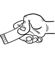 Hand with ticket or coupon coloring page vector image