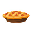happy thanksgiving turkey pie vector image