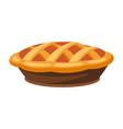 happy thanksgiving turkey pie vector image
