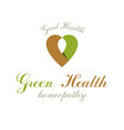 heart shape symbol can be used as wellness center vector image