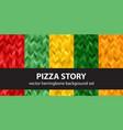 herringbone pattern set pizza story seamless vector image