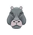 hippopotamus in cartoon style vector image