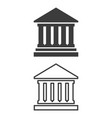 icon of bank on white background vector image vector image