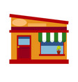 icon of the storefront of the orange color with a vector image vector image
