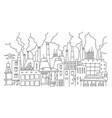 industrial pollution big city panorama sketch vector image vector image