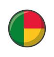 isolated benin flag icon block design vector image