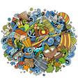 maldives hand drawn cartoon doodles vector image vector image