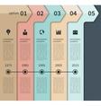 Modern timeline arrow infographics elements vector image vector image