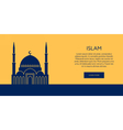 Mosque icon Islam building banner vector image vector image