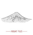 mount fuji in hand drawn style vector image vector image