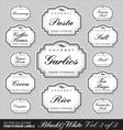 ornate food storage labels vol3 vector image vector image