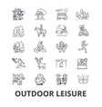 outdoor leisure vacaton activity hobby vector image vector image